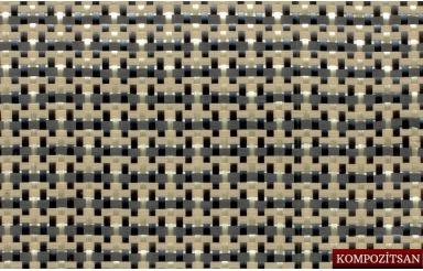 Carbon Kevlar Fiber Fabric 210gr/m2 Plain